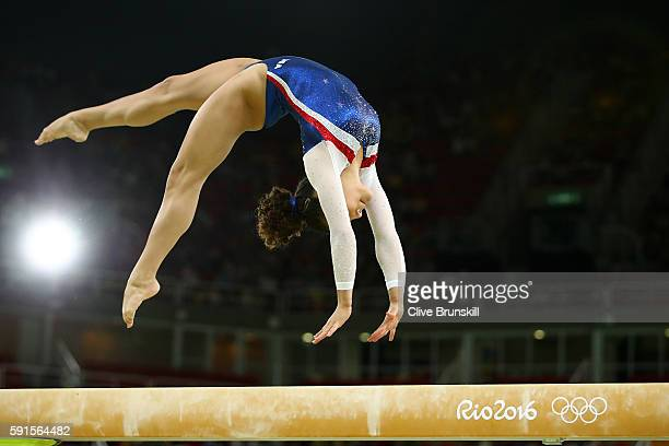 Laurie Hernandez of the United States performs during the Gymnastics Rio Gala on Day 12 of the 2016 Rio Olympic Games on August 17 2016 in Rio de...