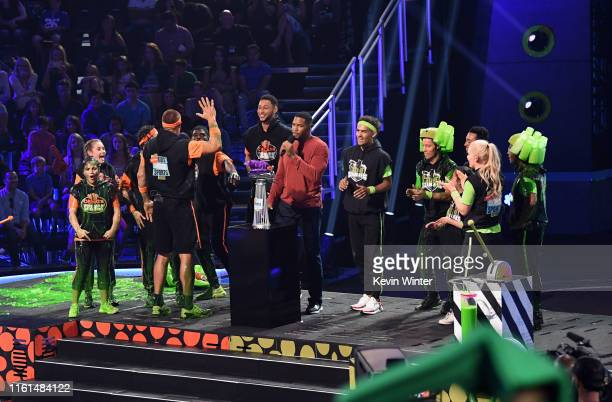Laurie Hernandez Olivia Moultrie David Dobrik Rob Gronkowski P K Subban host Michael Strahan Trae Young Shaun White Nyjah Huston Lindsey Vonn and Kel...