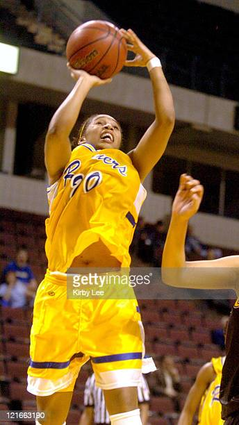 Laurie Hodges of Cal State Bakersfield during 100-69 victory over Cal State Los Angeles in CCAA women's basketball game at the Rabobank Arena in...