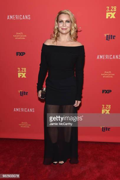 """Laurie Holden attends the """"The Americans"""" Season 6 Premiere at Alice Tully Hall, Lincoln Center on March 16, 2018 in New York City."""