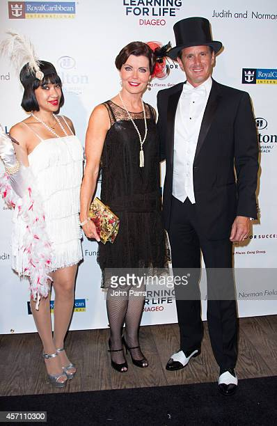 Laurie Jennings and Josh Salman attend Dress for Success Miami Celebrates 20th Anniversary at The Rusty Pelican>> on October 11 2014 in Key Biscayne...