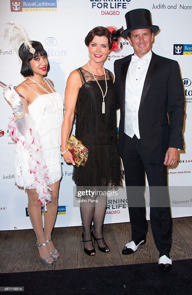 Laurie Jennings and Josh Salman attend Dress for Success Miami Celebrates 20th Anniversary at The Rusty Pelican>> on October 11, 2014 in Key Biscayne, Florida.