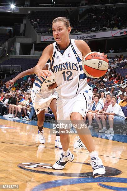 Laurie Koehn of the Washington Mystics drives against the Minnesota Lynx at the Verizon Center on September 14 2008 in Washington DC NOTE TO USER...