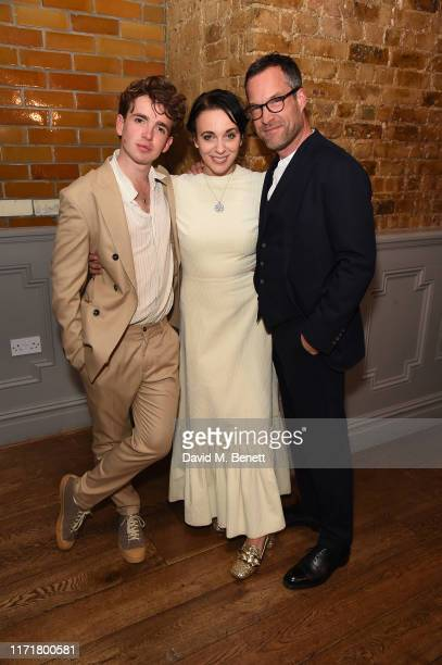Laurie Kynaston Amanda Abbington and John Light attend the press night after party for The Son at The Century Club on September 02 2019 in London...
