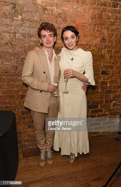 Laurie Kynaston and Amanda Abbington attend the press night after party for The Son at The Century Club on September 02 2019 in London England