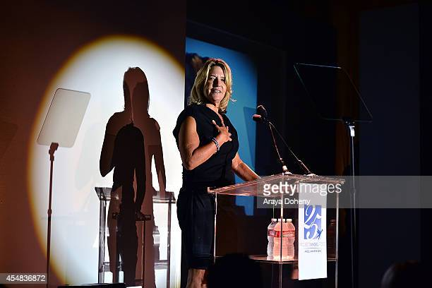 Laurie Lang attends the Project Angel Food's 25th Anniversary Angel Awards 2014 honoring Aileen Getty with the Inaugural Elizabeth Taylor Leadership...