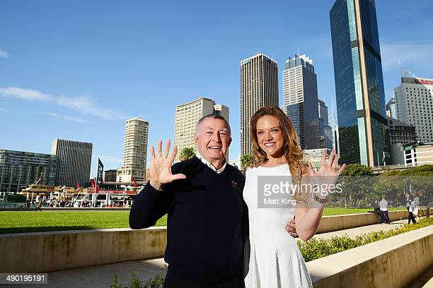 Laurie Lawrence and Ginia Rinehart pose following the Australian Olympic Committee Annual General Meeting at the Museum of Contemporary Art on May 10...