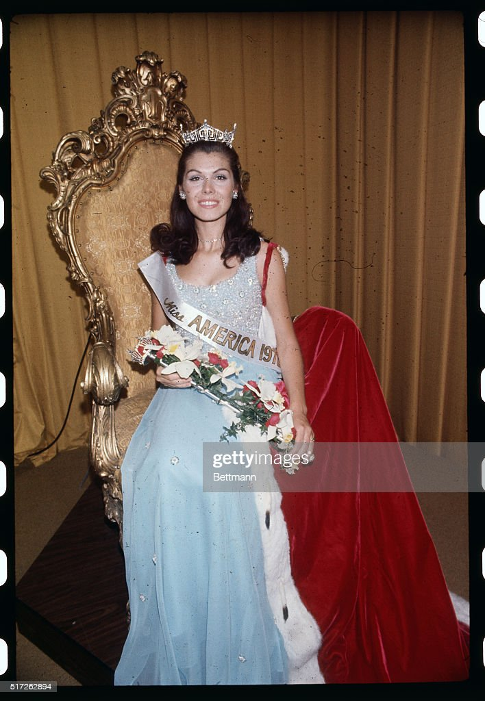 Miss America 1972 Sitting on Throne : News Photo