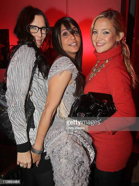 Laurie Lynn Stark and actress Kate Hudson attend a dinner hosted by Chrome Hearts in honor of Jake Shears Of Scissor Sisters at Chrome Hearts Factory...