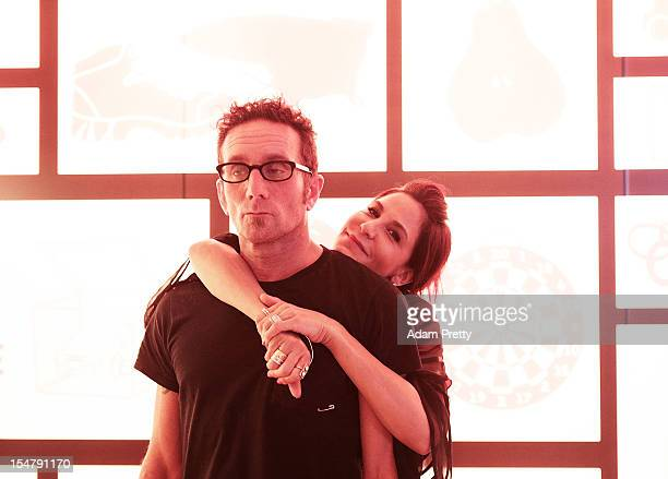 Laurie Lynn Stark and Richard Stark of Chrome Hearts enjoy the party during the ELLEgirl Night in association with Chrome Hearts at Fiat Caffe on...
