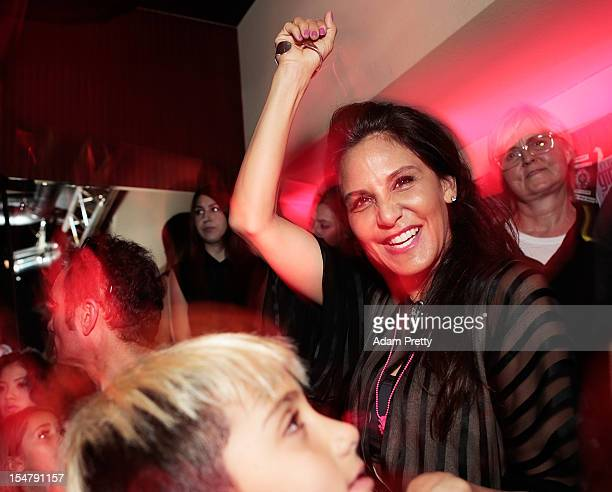 Laurie Lynn Stark coowner of Chrome Hearts enjoys the party during the ELLEgirl Night in association with Chrome Hearts at Fiat Caffe on October 26...