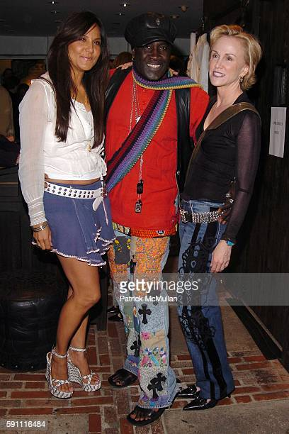 Laurie Lynn Stark Moko and Elizabeth Johnson attend CHROME HEARTS Party for ELLE Accessories Magazine hosted by Richard Laurie Lynn Stark at Chrome...