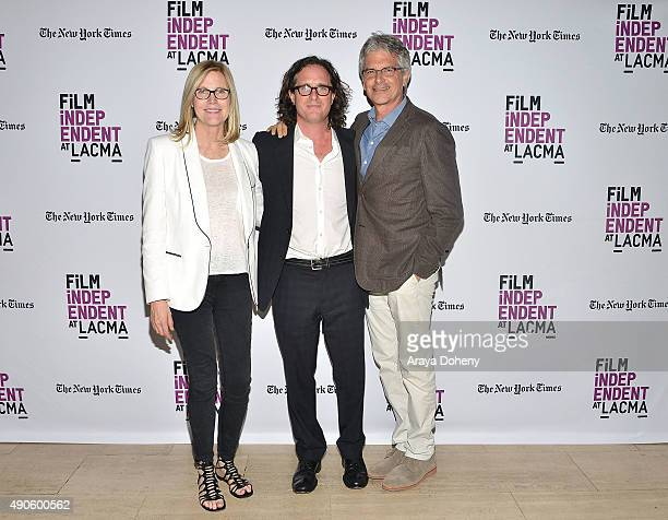 Laurie MacDonald Davis Guggenheim and Walter Parkes attend the Film Independent at LACMA screening and QA of He Named Me Malala at Bing Theatre At...