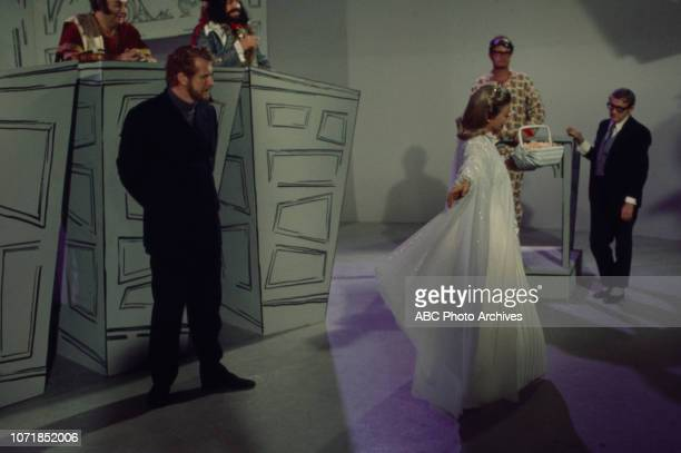Laurie Main, Stanley Adams, Edward Mulhare, Hope Lange, Charles Nelson Reilly, Joe Flynn appearing on the Walt Disney Television via Getty Images's...