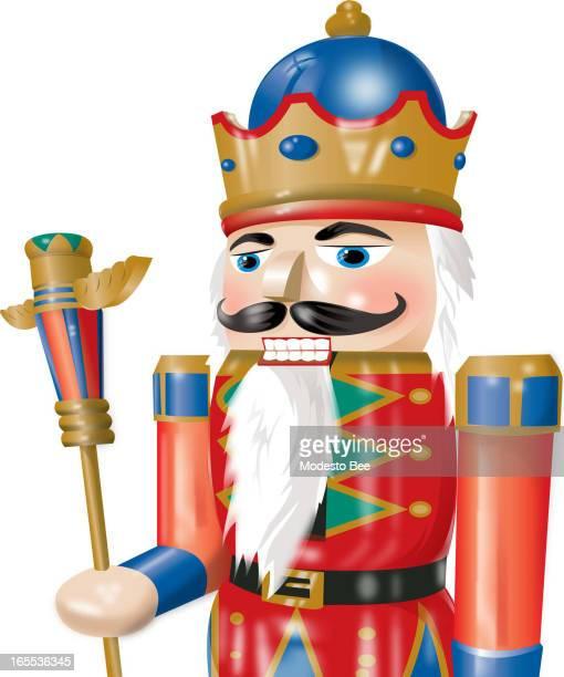 Laurie McAdam color illustration of a nutcracker king