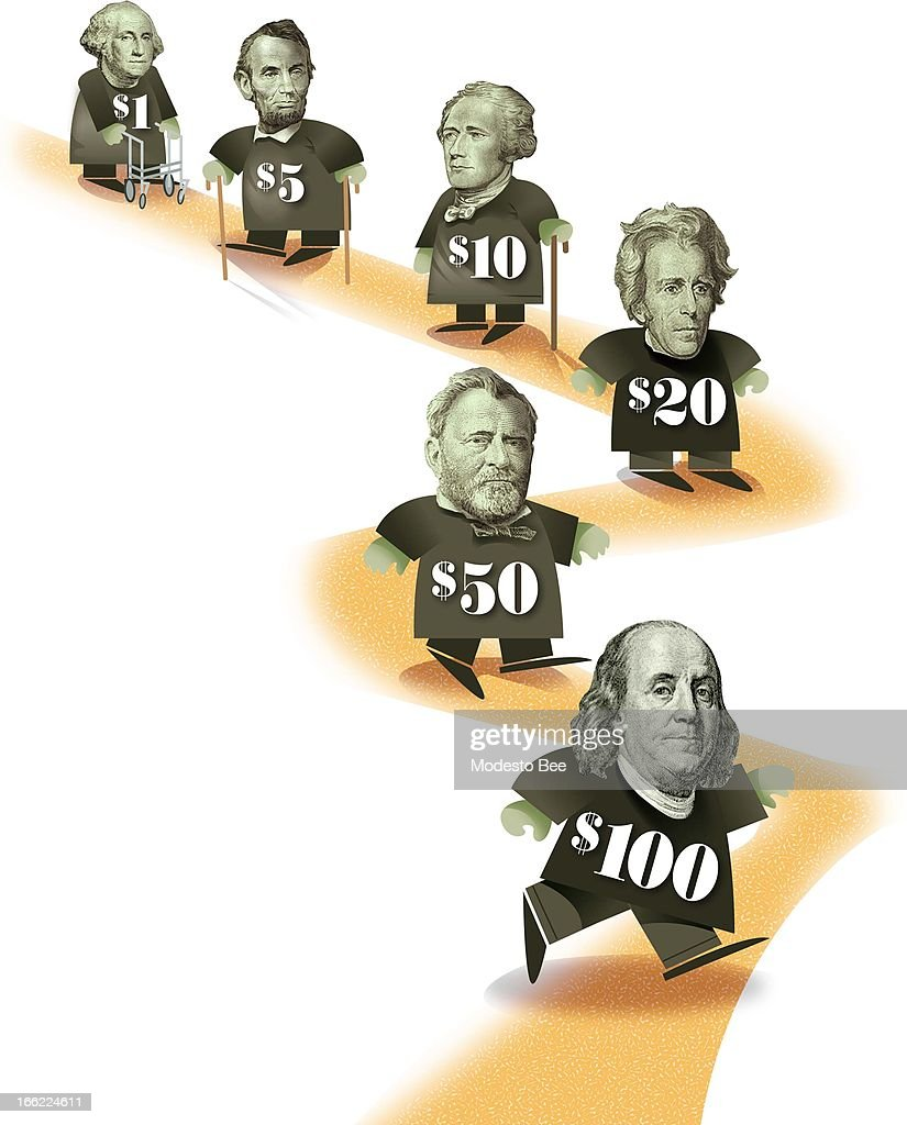 Greenback slowdown illustration Pictures | Getty Images