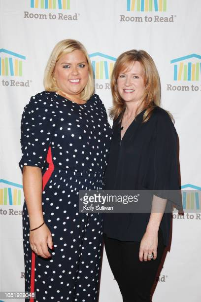 Laurie McMahon and Hilary Valentine attend Room To Read 2018 International Day Of The Girl Benefit at One Kearny Club on October 11 2018 in San...