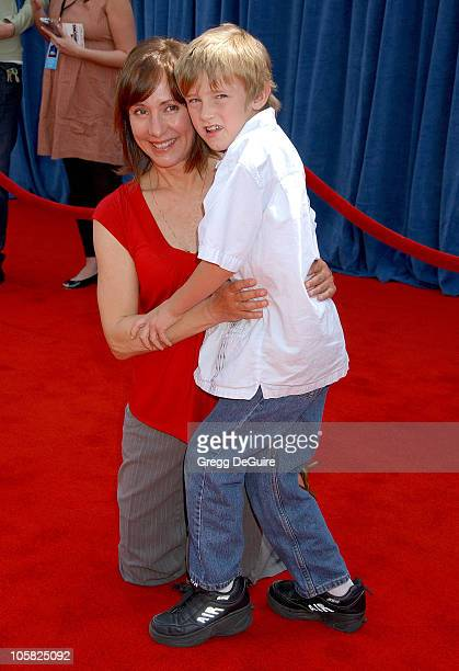 Laurie Metcalf and Donovan Metcalf during 'Meet the Robinsons' Los Angeles Premiere Arrivals at El Capitan Theater in Hollywood California United...