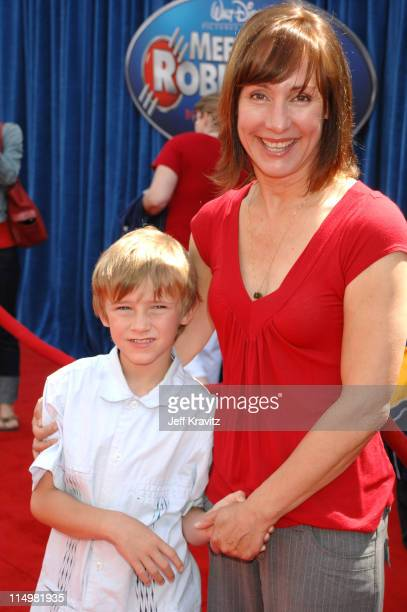 Laurie Metcalf and Donovan Metcalf during 'Meet The Robinsons' Los Angeles Premiere Red Carpet at El Capitan Theatre in Hollywood California United...