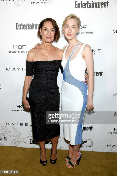 Laurie Metcalf and Saoirse Ronan attend Entertainment Weekly's Screen Actors Guild Award Nominees Celebration sponsored by Maybelline New York at...