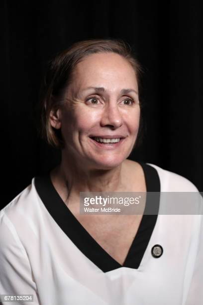 Laurie Metcalf attends the 2017 Tony Awards Meet The Nominees Press Junket at the Sofitel Hotel on May 3 2017 in New York City