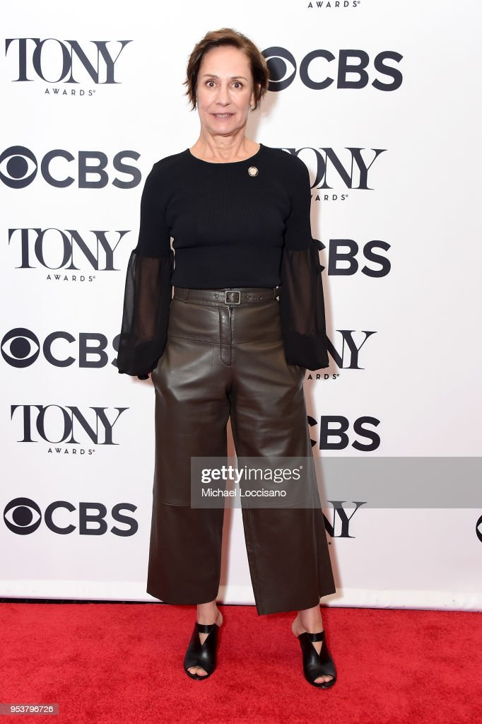 Laurie Metcalf attends the 2018 Tony Awards Meet The Nominees Press Junket on May 2, 2018 in New York City.