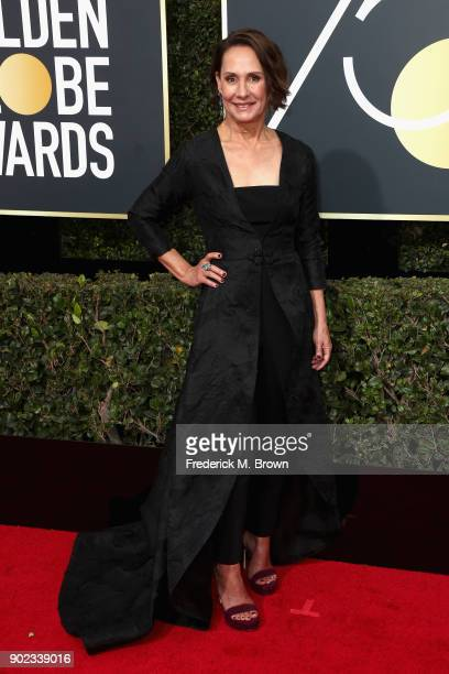Laurie Metcalf attends The 75th Annual Golden Globe Awards at The Beverly Hilton Hotel on January 7 2018 in Beverly Hills California