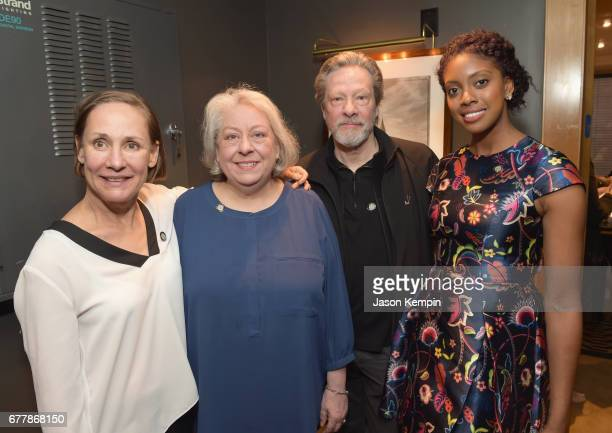 Laurie Metcalf Jayne Houdyshell Chris Cooper and Condola Rashad attend the 2017 Tony Awards Meet The Nominees Press Junket at the Sofitel New York on...