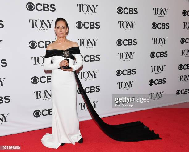 """Laurie Metcalf winner of the award for Best Performance by an Actress in a Featured Role in a Play for """"Edward Albee's Three Tall Women"""" poses in the..."""