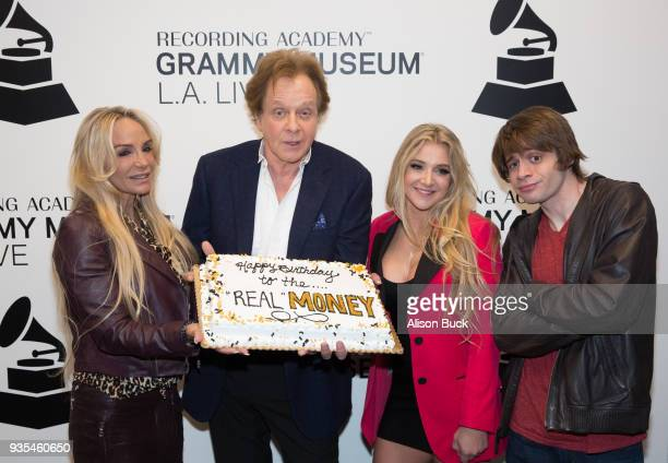 Laurie Money, Eddie Money, Jesse Money and Joe Money attend An Evening With Eddie Money at The GRAMMY Museum on March 20, 2018 in Los Angeles,...