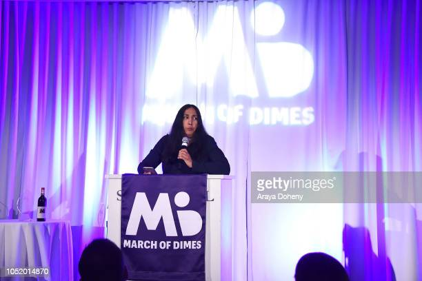 Laurie Ochoa attends the March of Dimes Signatures Chefs Auction Los Angeles on October 11 2018 in Beverly Hills California