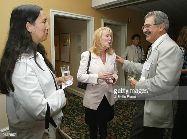 Laurie Ochoa editor in chief of LA Weekly Mary Grady Public Information Director of Los Angeles Police Department and Gerardo Lopez Editor of La...