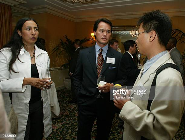Laurie Ochoa EditorInChief of the LA WEEKLY Michael Kong Publisher of Angelino Magazine and Kyun Won Kim a staff writer for The Korean Times attend a...