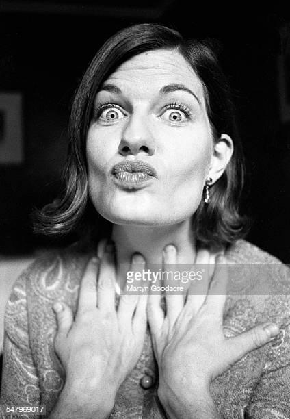 Laurie Pike TV presenter portrait London United Kingdom 1993