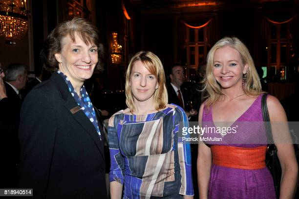 Laurie Smith Wooden Heather Mikesell and Karen Schalen attend Waldorf Astoria Hotels Resorts and The New Yorker present 85 YEARS OF NEW YORKER COVERS...
