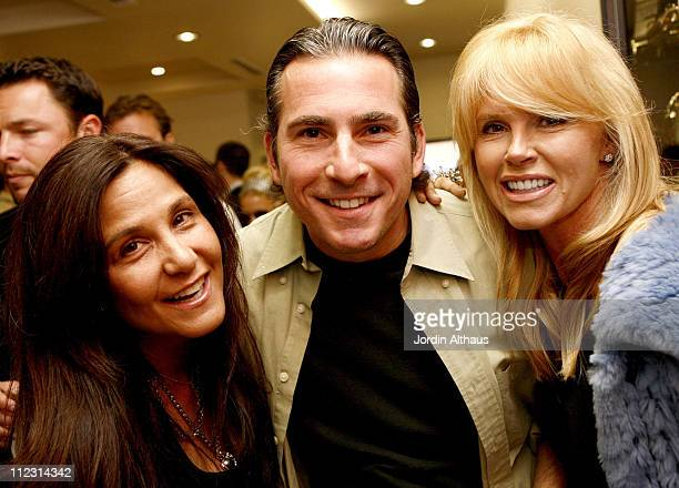 Laurie Stark Robert Cohen and Lisa Cohen during Grand Opening of Optical Shop of Aspen in Malibu March 15 2007 at Optical Shop of Aspen in Malibu...