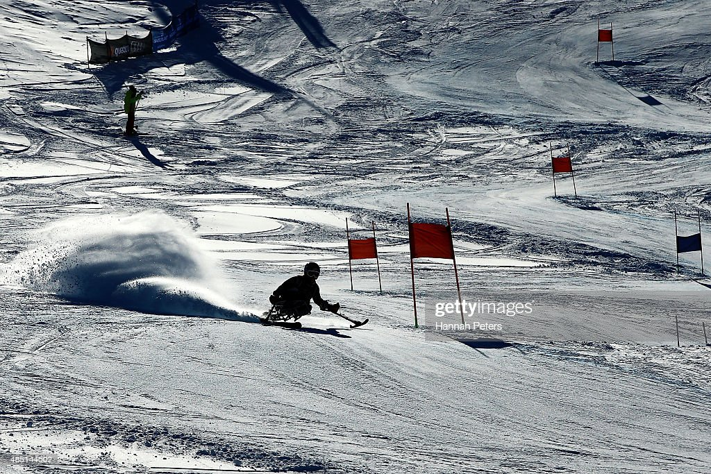 Laurie Stephens of the United States competes in the Women Giant Slalom Sitting LW12-1 in the IPC Alpine Adaptive Giant Slalom Southern Hemisphere Cup during the Winter Games NZ at Coronet Peak on August 25, 2015 in Queenstown, New Zealand.