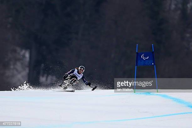 Laurie Stephens of United States competes in the Women's Downhill Sitting during day one of Sochi 2014 Paralympic Winter Games at Rosa Khutor Alpine...
