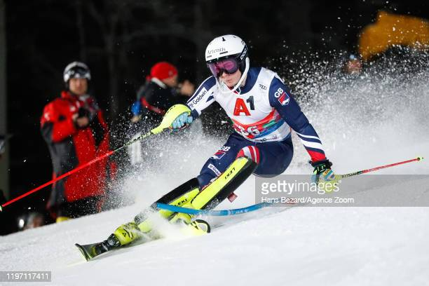 Laurie Taylor of Great Britain competes during the Audi FIS Alpine Ski World Cup Men's Slalom on January 28, 2020 in Schladming Austria.