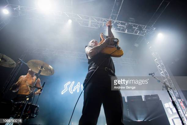 Laurie Vincent of Slaves performs at O2 Academy Leeds on November 19 2018 in Leeds England