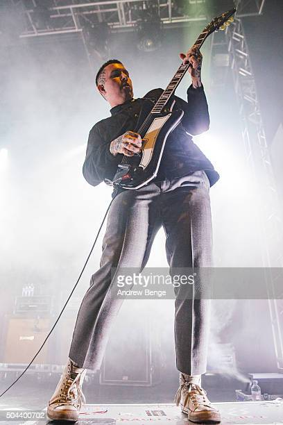 Laurie Vincent of Slaves performs on stage at O2 Academy Leeds on January 10 2016 in Leeds England