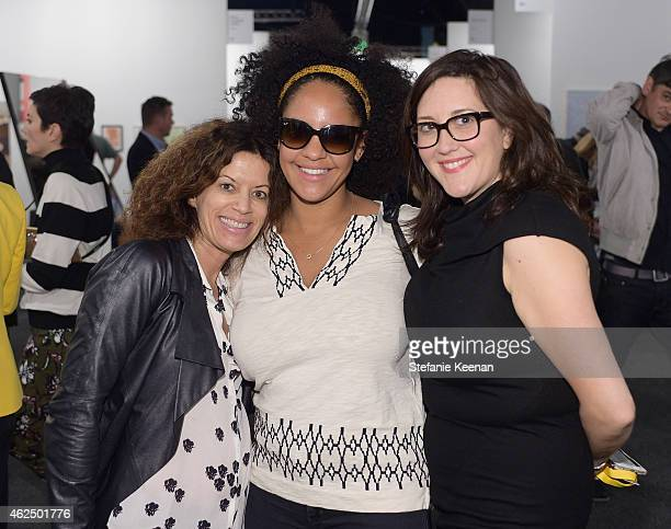 Laurie Ziegler, Aryn Drake-Lee and Development Director, Art Los Angeles Contemporary Art Fair Alex Couri attend the Art Los Angeles Contemporary...