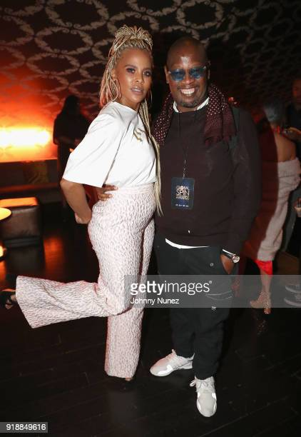 Laurieann Gibson and Andre Harrell attend the 2018 Global Spin Awards at The Novo by Microsoft on February 15 2018 in Los Angeles California