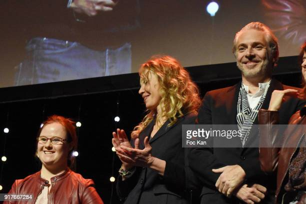 Lauriers 2017 Best Fiction film Mention ParticuliereÊ Actresses Marie Dal Zottto Carole Richert and actor Bruno Salomone attend the 23 eme Ceremonie...
