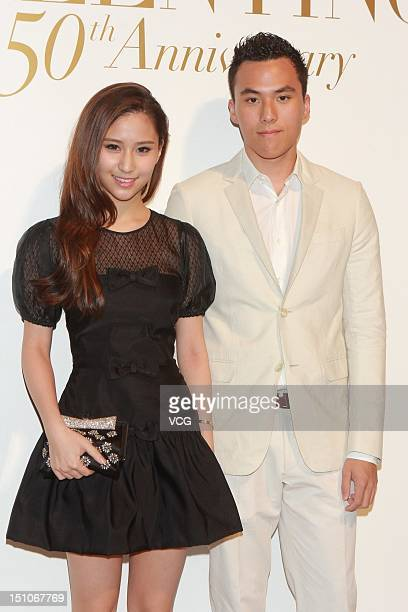 Laurinda Ho Chiulin and Orlando Ho Yau Kai attend Valentino 50th Anniversary Party at the International Finance Centre on August 31 2012 in Hong Kong...