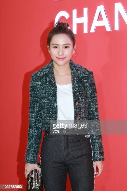Laurinda Ho Chiulin daughter of Macau casino magnate Stanley Ho attends a Chanel Le Rouge popup store event on October 16 2018 in Hong Kong China