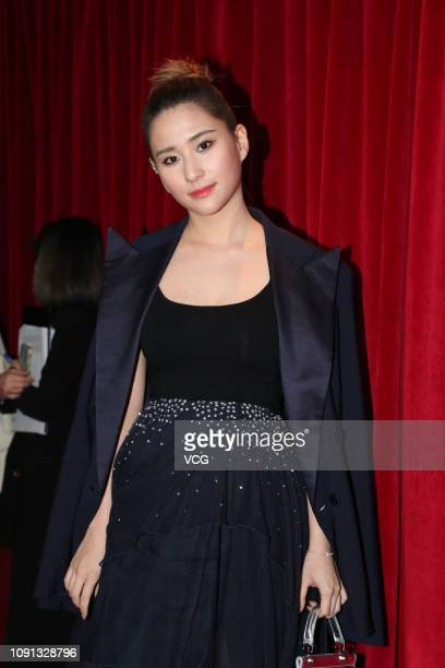 Laurinda Ho Chiulin daughter of SJM Holdings founder Stanley Ho attends Roger Vivier Spring/Summer 2019 collection event on January 8 2019 in Hong...