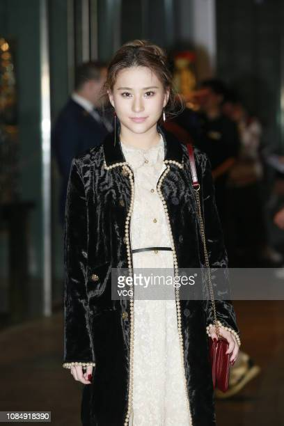 Laurinda Ho Chiulin daughter of SJM Holdings founder Stanley Ho poses for a photo before the wedding ceremony of singer/actress Gillian Chung Yantung...