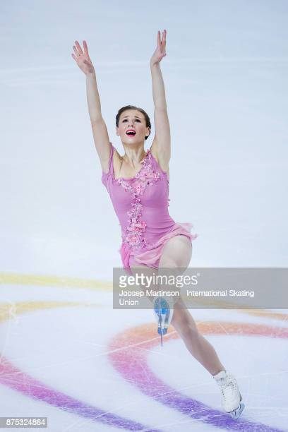Laurine Lecavelier of France competes in the Ladies Short Program during day one of the ISU Grand Prix of Figure Skating at Polesud Ice Skating Rink...