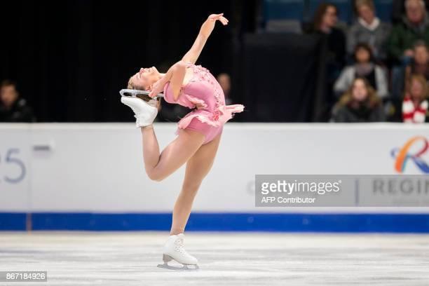 Laurine Lecavelier of France skates her short program at the 2017 Skate Canada International ISU Grand Prix event in Regina, Saskatchewan, Canada, on...